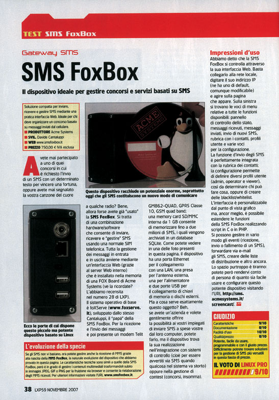 FoxBox - LinuxPro 11 2007 test